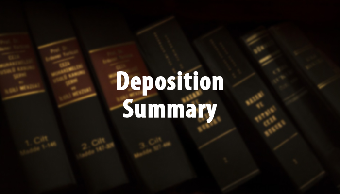 Deposition Summary Services